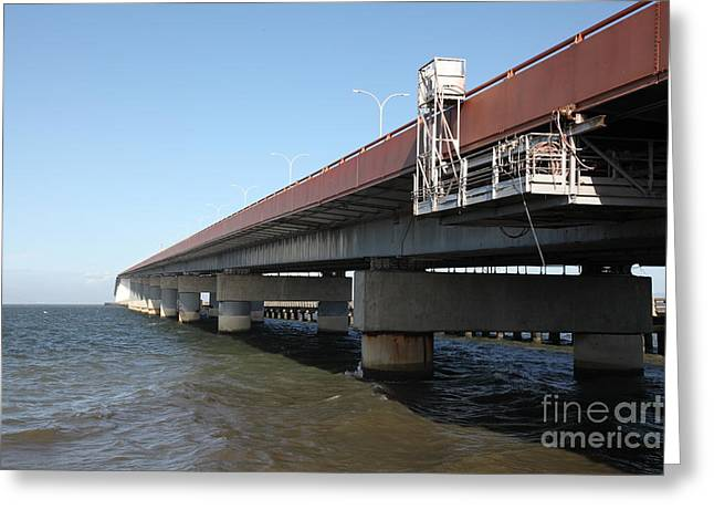 San Mateo Bridge In The California Bay Area 5d21900 Greeting Card by Wingsdomain Art and Photography