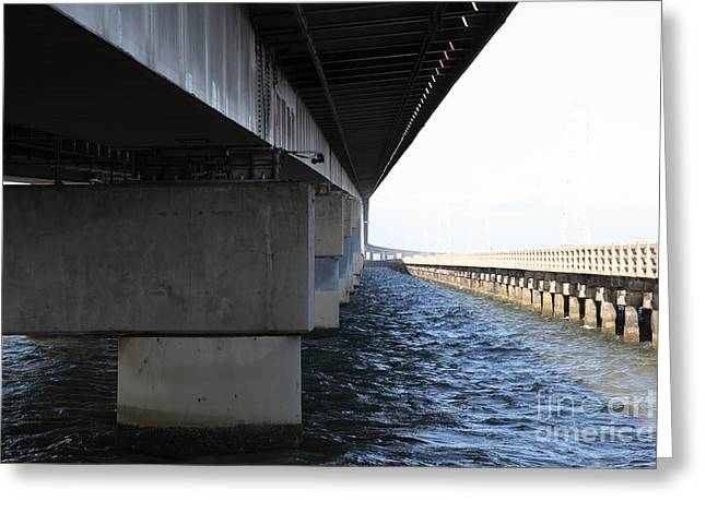 San Mateo Bridge In The California Bay Area 5d21908 Greeting Card by Wingsdomain Art and Photography