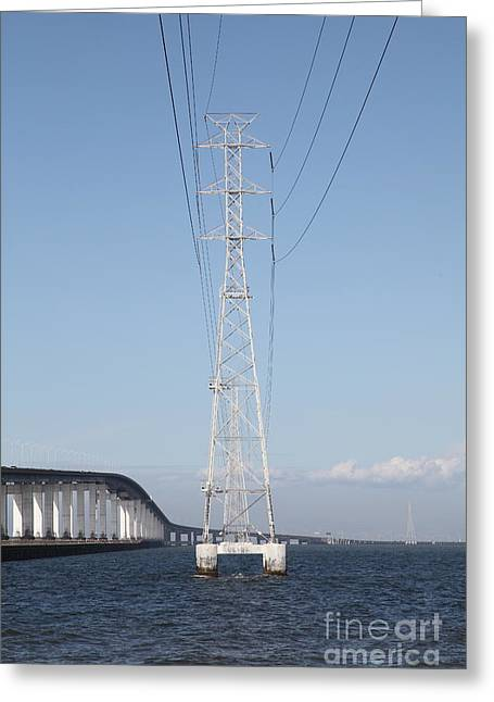San Mateo Bridge In The California Bay Area 5d21909 Greeting Card by Wingsdomain Art and Photography