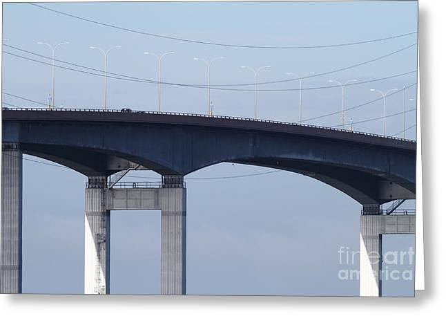 San Mateo Bridge In The California Bay Area 7d21910 Greeting Card by Wingsdomain Art and Photography