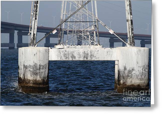San Mateo Bridge In The California Bay Area 7d21943 Greeting Card by Wingsdomain Art and Photography
