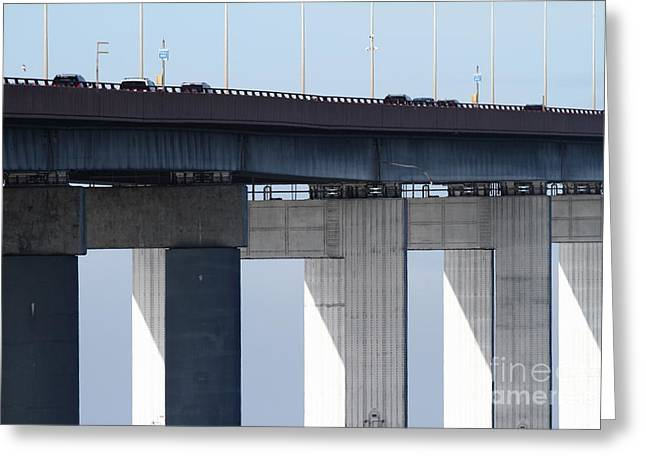 San Mateo Bridge In The California Bay Area 7d21947 Greeting Card by Wingsdomain Art and Photography