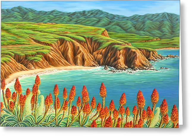 Greeting Card featuring the painting San Mateo Springtime by Jane Girardot