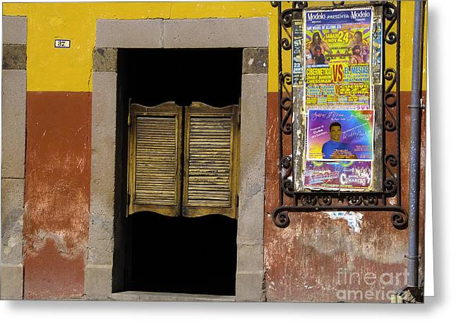 San Miguel Colorful Bar Greeting Card by Susie Blauser