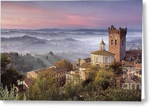 San Miniato - Tuscany Greeting Card by Rod McLean