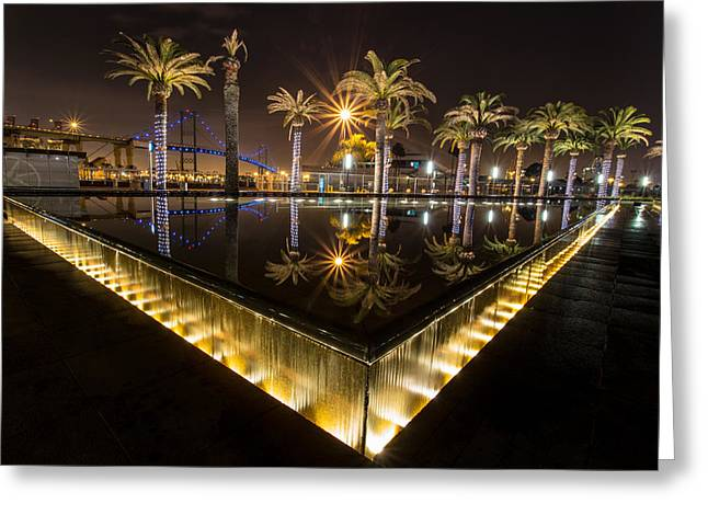 San Pedro Fountains Greeting Card