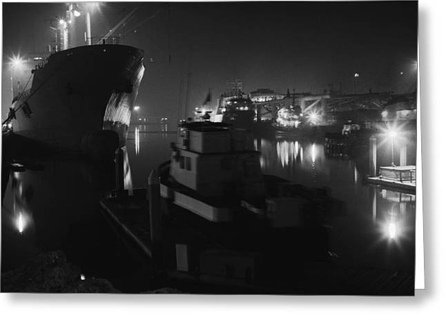San Pedro Night Shot Greeting Card