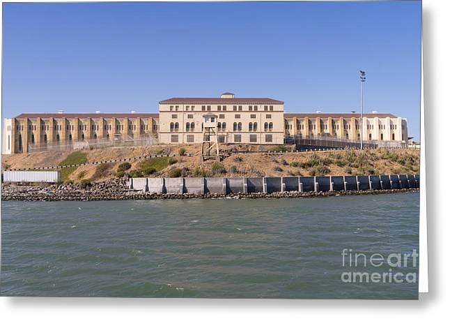 San Quentin Prison In Marin County California Dsc1663 Greeting Card by Wingsdomain Art and Photography