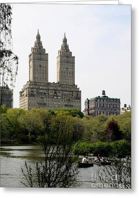 San Remo Towers Nyc Greeting Card by Christiane Schulze Art And Photography