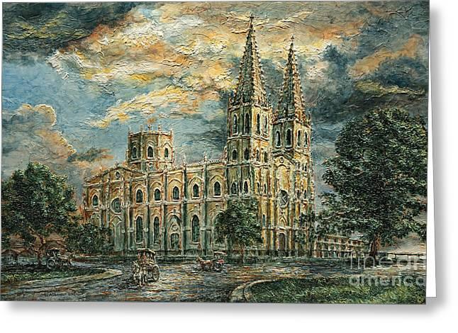 San Sebastian Church 1800s Greeting Card by Joey Agbayani