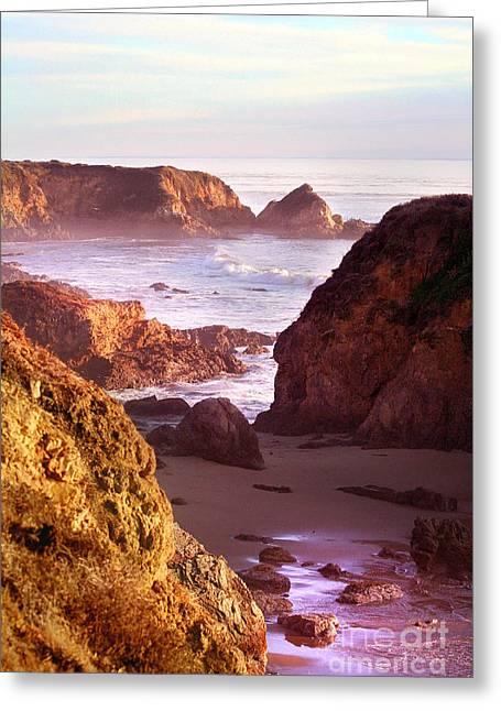 San Simeon Coastal View Greeting Card