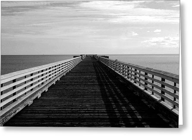 San Simeon Pier Greeting Card