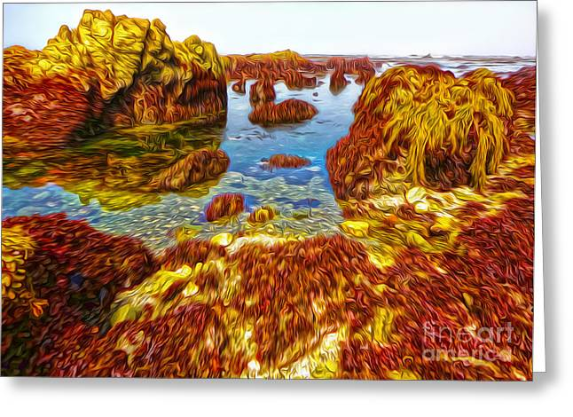 San Simeon - Sea Shore - 03 Greeting Card by Gregory Dyer