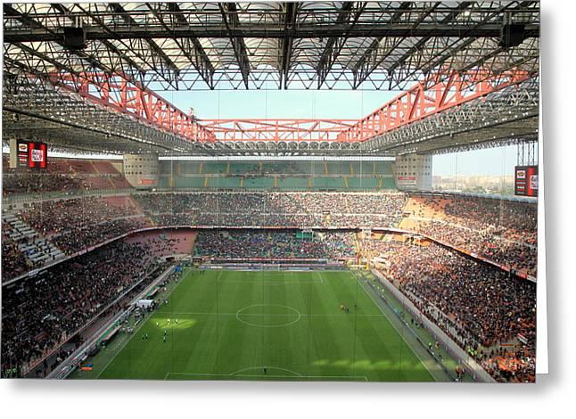 San Siro Stadium Greeting Card by Valentino Visentini