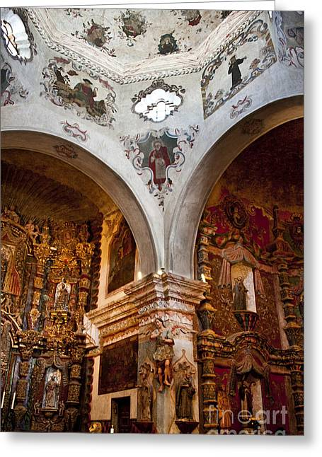 San Xavier Del Bac #39 Greeting Card by Lee Craig