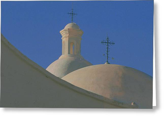 Greeting Card featuring the photograph San Xavier Del Bac by Susan Rovira