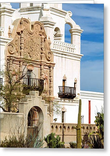 San Xavier Del Bac Tucson Az Greeting Card by Panoramic Images
