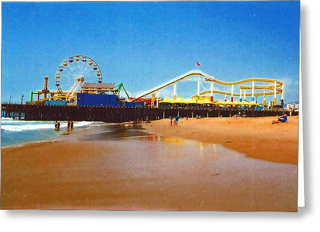 Greeting Card featuring the photograph Sana Monica Pier by Daniel Thompson