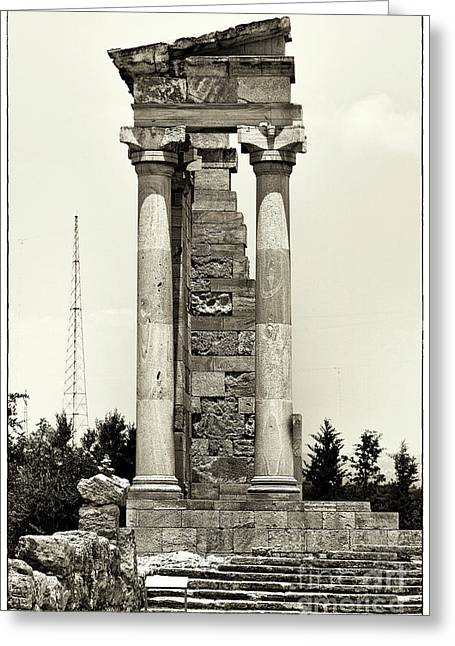 Sanctuary Of Apollo Hylates Greeting Card by John Rizzuto