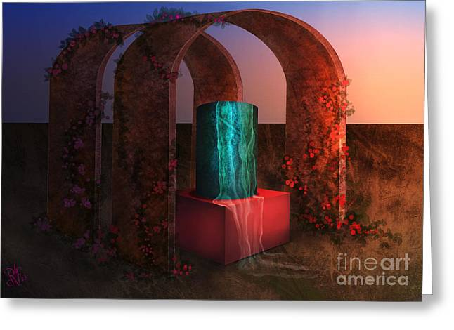 Sanctuary Of Light Greeting Card by Rosa Cobos