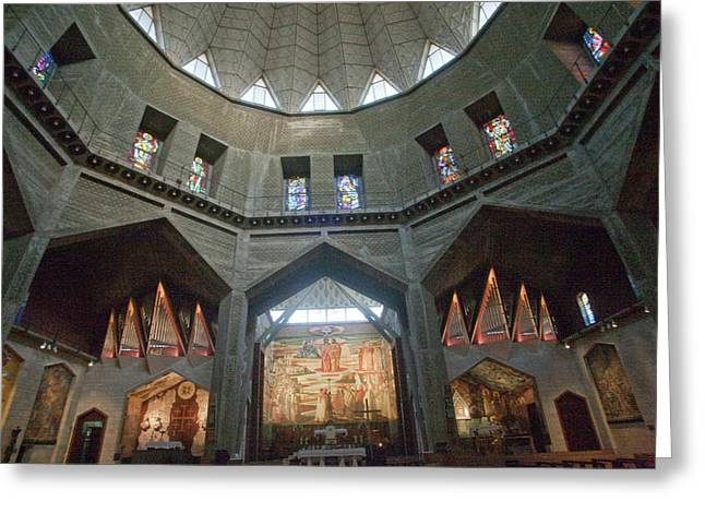 Sanctuary Of The Basilica Greeting Card by Dave Bartruff