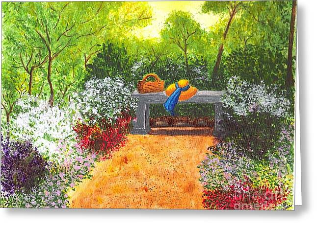 Greeting Card featuring the painting Sanctuary by Patricia Griffin Brett
