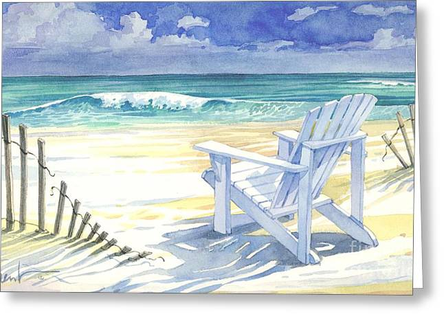 Sand And Shadows Greeting Card
