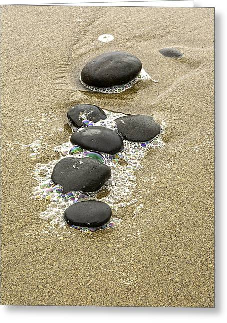 Sand And Stones Greeting Card by Judi Baker