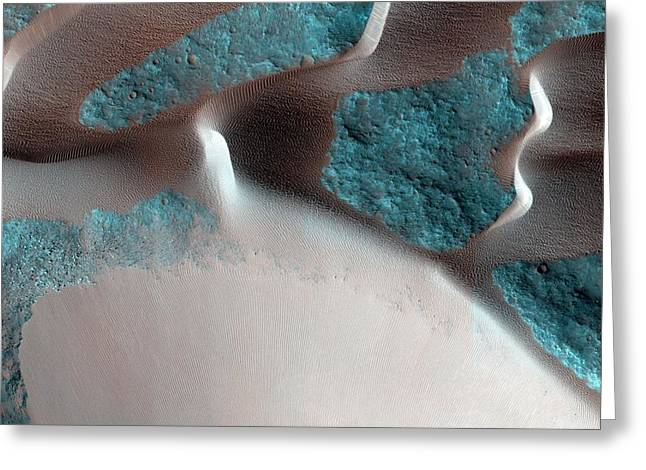 Sand Avalanches On Mars Greeting Card