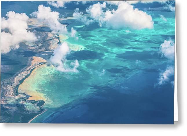 Sand Beach Meets Ocean Greeting Card