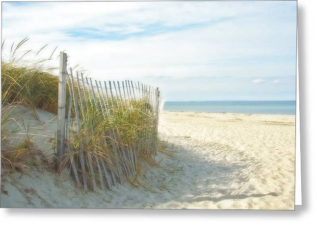 Sand Beach Ocean And Dunes Greeting Card