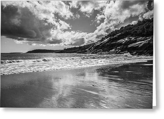 Sand Beach Reflects Greeting Card by Kristopher Schoenleber