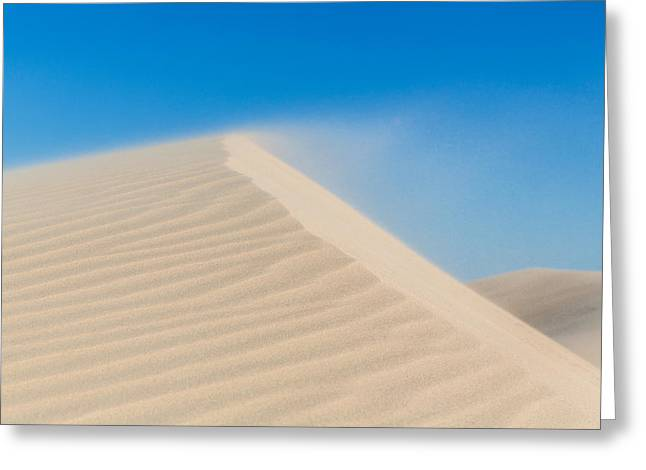Sand Blowing Off A Dune Greeting Card