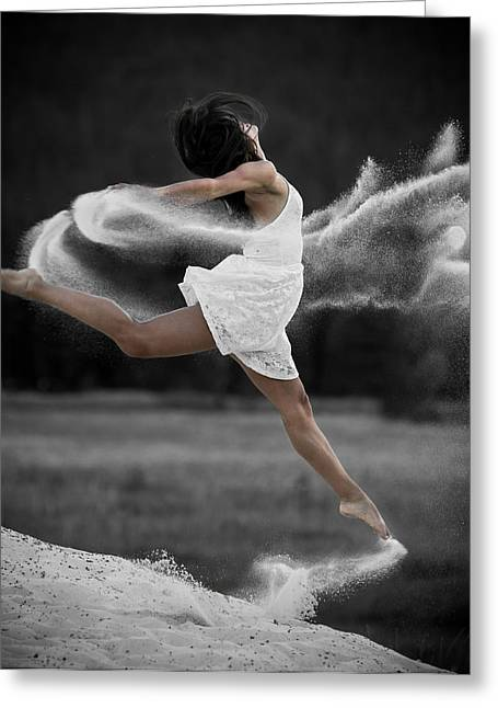 Sand Dance Greeting Card by Marie-Dominique Verdier