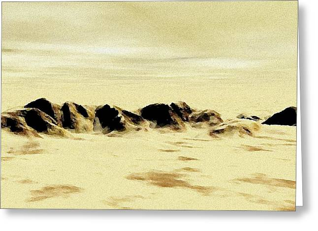 Sand Desert Greeting Card