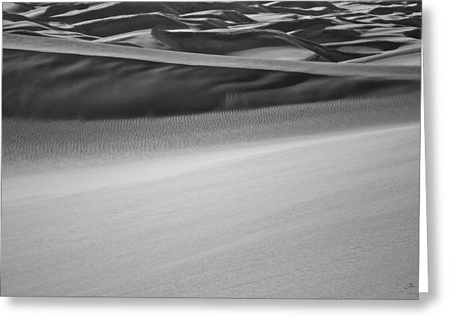 Sand Dunes Abstract Greeting Card by Aaron Spong
