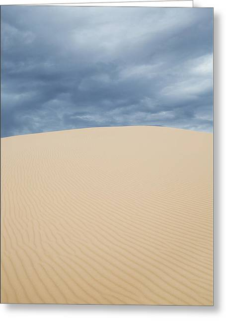 Sand Dunes And Dark Clouds Greeting Card