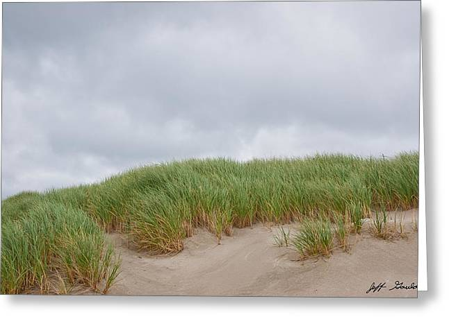 Sand Dunes And Grass Greeting Card