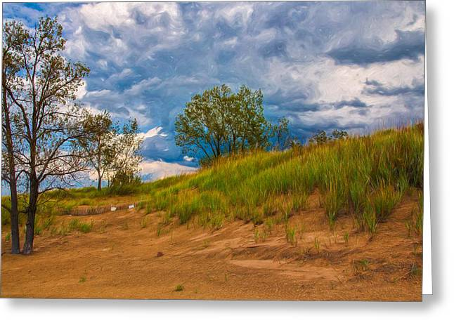 Sand Dunes At Indian Dunes National Lakeshore Greeting Card
