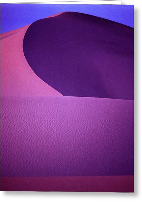 Sand Dunes, Death Valley. 85-183-04 Greeting Card