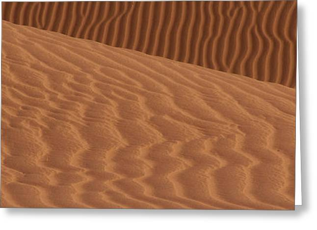 Sand Dunes In A Desert, Mojave Desert Greeting Card by Panoramic Images