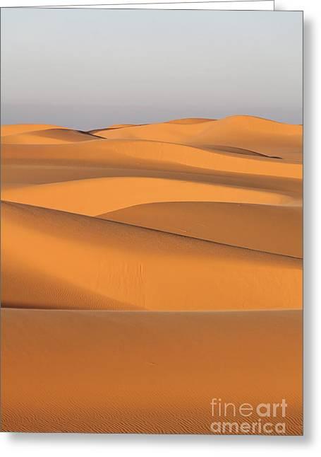Sand Dunes In The Sahara Desert Greeting Card by Robert Preston