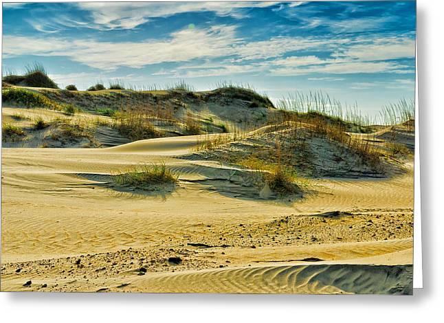 Sand Dunes Greeting Card by Louis Dallara