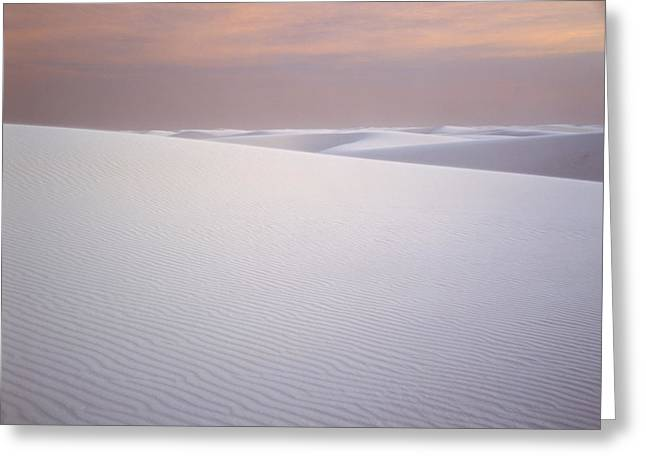 Sand Dunes Of Gypsum In The Morning Greeting Card by Panoramic Images