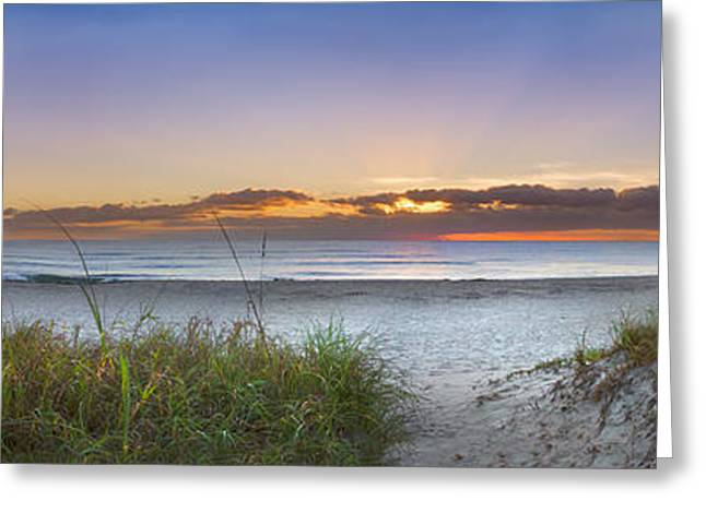 Sand Dunes Panorama Greeting Card