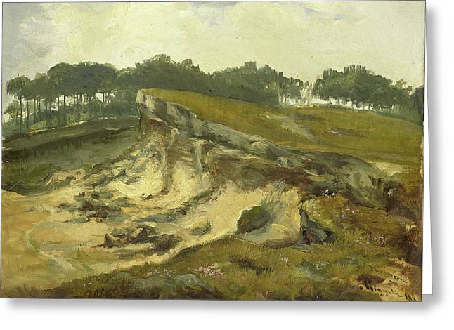 Sand Excavation, Johannes Tavenraat Greeting Card