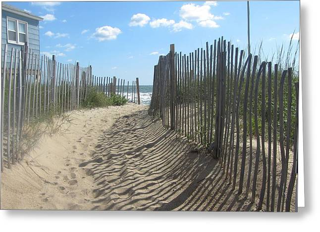 Sand Fence At Southern Shores  Greeting Card