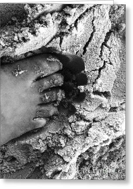 Sand Foot Greeting Card