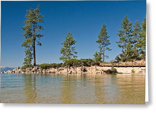 Sand Harbor At Morning, Lake Tahoe Greeting Card by Panoramic Images