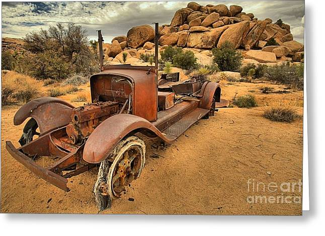 Sand In The Tires Greeting Card
